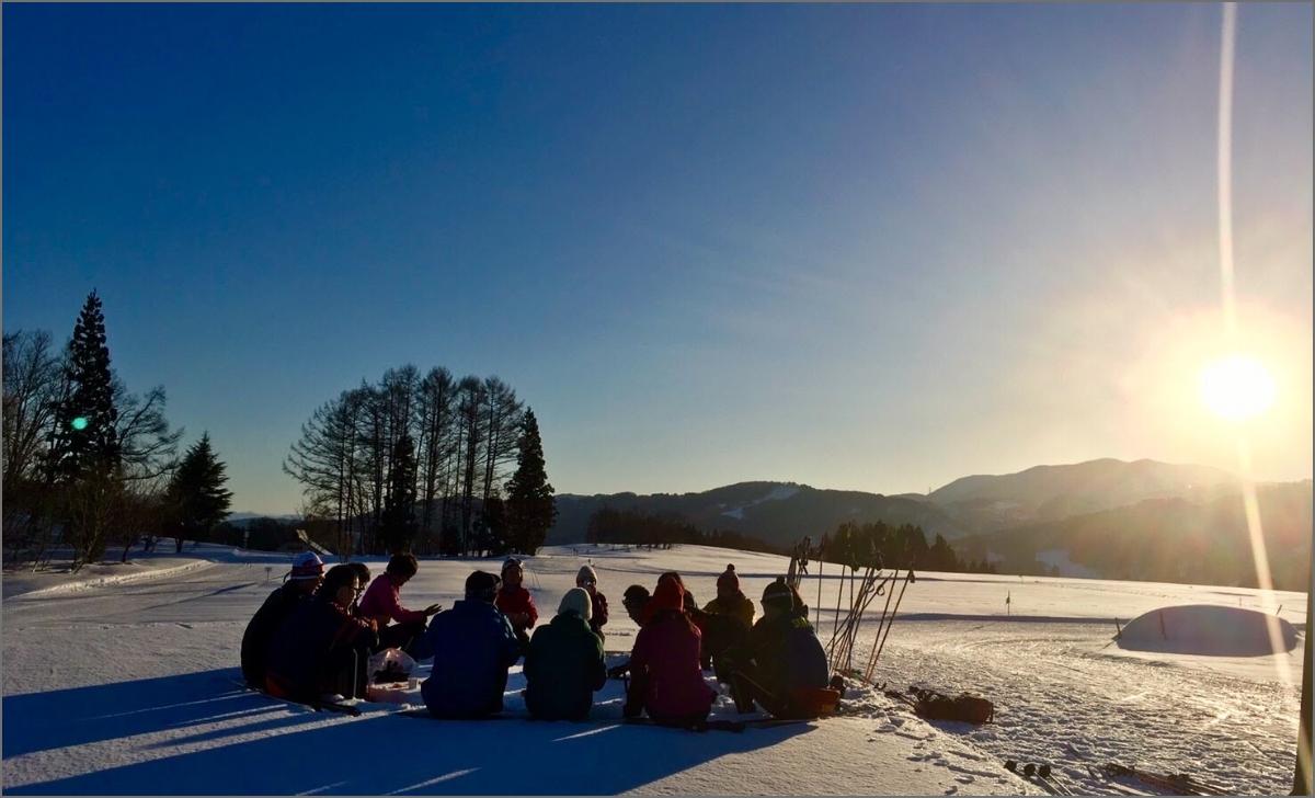 飯山の雪原の写真